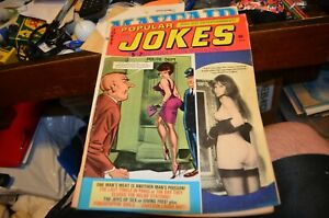 Popular Jokes Magazine AUGUST 1966 GGA Adult Jokes Cartoons