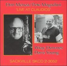 DON MENZA/PETE MAGADINI - LIVE AT CLAUDIO'S NEW CD