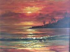 Stunning Oil Painting Of Sunset Sea