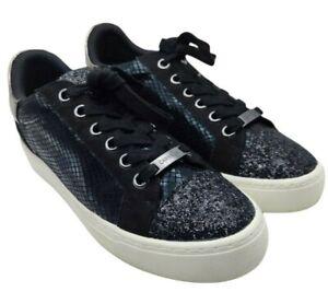 Kurt geiger Carvella womens judd black glitter trainers new size 6 uk new rrp 99