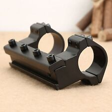 "1"" 25.4mm One Piece Dual High Profile Rings Rifle Scope 11mm Dovetail Rail Mount"