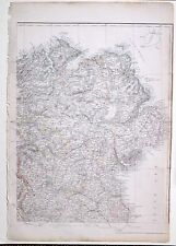 1864 LARGE ANTIQUE MAP ~ IRELAND NORTH EAST SHEET MEATH LONDONDERRY TYRONE