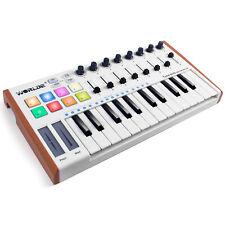 More details for worlde midi keyboard tuna mini 25 key usb midi controller portable keyboard