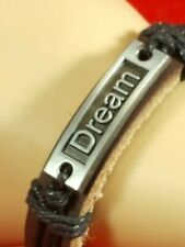 DREAM Leather Wristband Bracelets Adjustable Bangle Bohemia Wrap Layered HOT X1