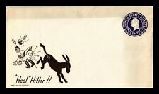 WORLD WAR II HUMOR UNSERVICED CACHET UNSEALED US COVER