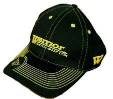 Warrior Custom Hat Golf Strap Back Cap Black Yellow