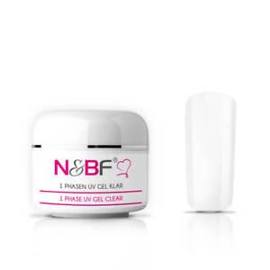N&BF 3-in-1 Einphasen UV Gel 5-200ml dickviskos klar | All in One Nagelmodellage