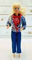 """MATTEL BARBIE Doll Blonde Hair Blue Eyes 3 Piece Outfit 12"""" Tall Used Free Ship"""
