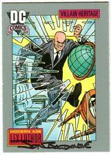 Jon Bogdanove SIGNED DC 1991 Superman Man of Steel Art Card ~ Lex Luthor