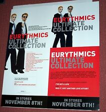 EURYTHMICS ULTIMATE COLLECTION - 2005 Promo Poster - ANNIE LENNOX Arista
