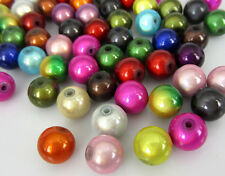 """50 x 3D Illusion Miracle Round Arylic Beads 10mm Dia Mixed Colours 3/8"""""""