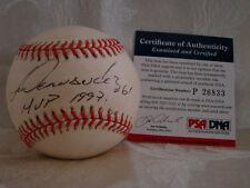 Livan Hernandes Autograph baseball psa/dna Marlins