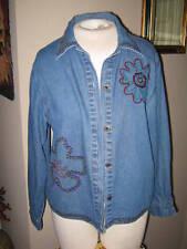 Denim Jacket w/studs & buttons front. AGAPO Collect.  Sz Medium