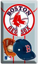 Boston Red Sox Mlb Logo Baseball Single Light Switch Nw