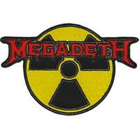 OFFICIAL LICENSED - MEGADETH - RADIOACTIVE EMBROIDERED WOVEN PATCH METAL