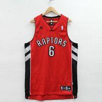 Jermaine O'Neal #6 Toronto Raptors Adidas Jersey Size Large +2 Swingman NBA