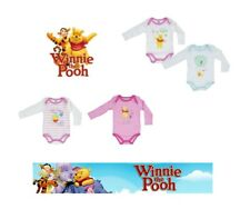 Baby Girls Disney Winnie The Pooh  2 Pack Body Suits 0-3 Years Cotton Romper