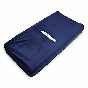 Baby Company Heavenly Soft Chenille Fitted Contoured Changing Pad Cover Navy