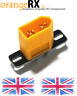 XT60 Plug Connector Fixed Mounting Plate - RC Lipo Drone Plane Heli orangeRX -uk