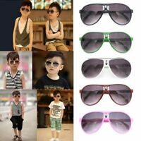 Children Kids Boys Girls Framed Metal ANTI-UV Sunglasses Stylish Eyewear Goggles