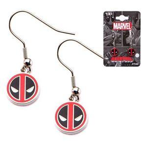 Official Marvel DEADPOOL Stainless Steel Dangle Earrings NEW & IN STOCK NOW