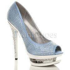 Scarpe da donna BLU con tacco altissimo (oltre 11 cm)
