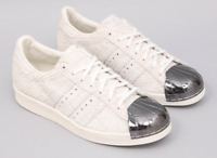 Women Adidas Superstar 80S Trainers Metal Toe Off White Shoes S82483 RRP 129.99