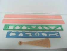 Vintage Decorative Cake Icing Smoother Rulers Tala Lot of 5