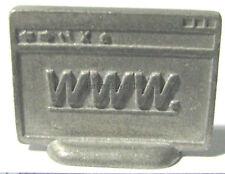 Hasbro Monopoly .com Edition screen metal token pawn pewter miniature.