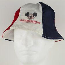 ae7647e53bbc9 Vintage 1970s Walt Disney World Child s 6-Panel Bucket Hat - Red