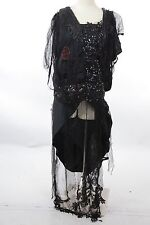 Antique vintage Victorian dress Edwardian gown jet beaded for study and parts