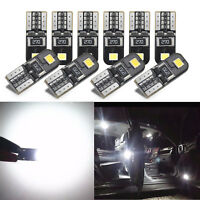10Pc For Car Canbus 2825 T10 168 194 W5W Dome License Side Marker LED Light Bulb