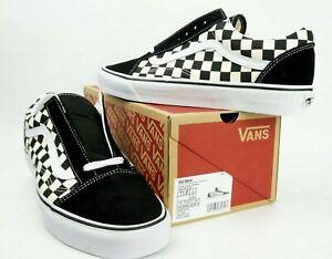 Vans Old Skool Men's Primary Check Sneakers (VN0A38G1P0SBlk/White) Men Sz 11M US