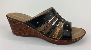 Spring Step Patrizia Womens Slides Sandals Wedge Heels Sz US 9