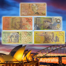 WR Australia Banknote Set 5/10/20/50/100 AUD Color Gold Banknote Collect Gifts