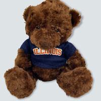 Spirit Products FIGHTING ILLINI BROWN TEDDY BEAR Wearing Illinois Sweater PLUSH