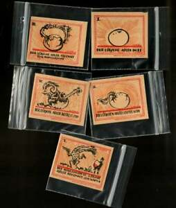 Dragon hatching, complete UNC set lot of 5, GERMANY 20 Pfening 1921, NOTGELD