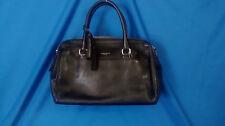 "Coach Legacy Black Leather Haley Satchel Purse Bag Handbag Strap Drop 5"""