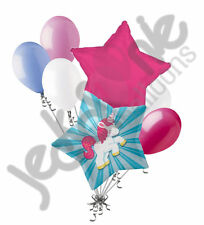 7 pc Magical Unicorn Balloon Bouquet Happy Birthday Baby Shower It's a Girl Pony