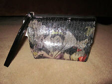 Disney Designer Villains Sequined Makeup Cosmetic Bag Ursula, Evil Queen, Hearts