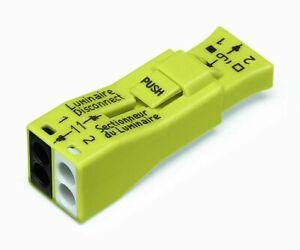 WAGO 873-902 Luminaire Disconnect Connector, 2 pole