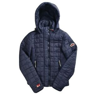 Superdry Teen Girls Womens Blue Quilted Padded Coat Jacket Extra Extra Small XXS