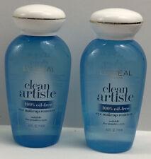 L'Oreal Paris Clean Artiste Oil Free Eye Makeup Remover 4 oz 2 Pk