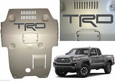 Magnetic Gray Premium Vinyl TRD Skid Plate Inserts For 2016-2017 Toyota Tacoma