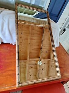 """VINTAGE """"BAMBOO STYLE"""" WALL MIRROR"""