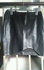 Witchery skirt patent like asymmetrical mini