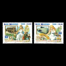 San Marino 2001 - 50th Anniv of Societa Unione Mutuo Soccorso - Sc 1518a/b MNH