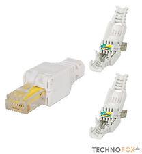 2 Stück RJ45 Cat7 Cat6 Netzwerkstecker Werkzeuglos toolless Network connector HQ