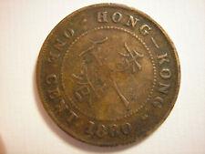 Hong Kong, 1880 1 Cent, KM# 4.3, Victoria, One Cent
