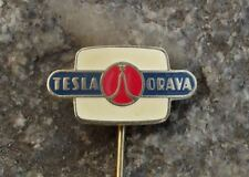 Antique Tesla Electronics Orava Early Television Cathode Ray Tube CRT Pin Badge